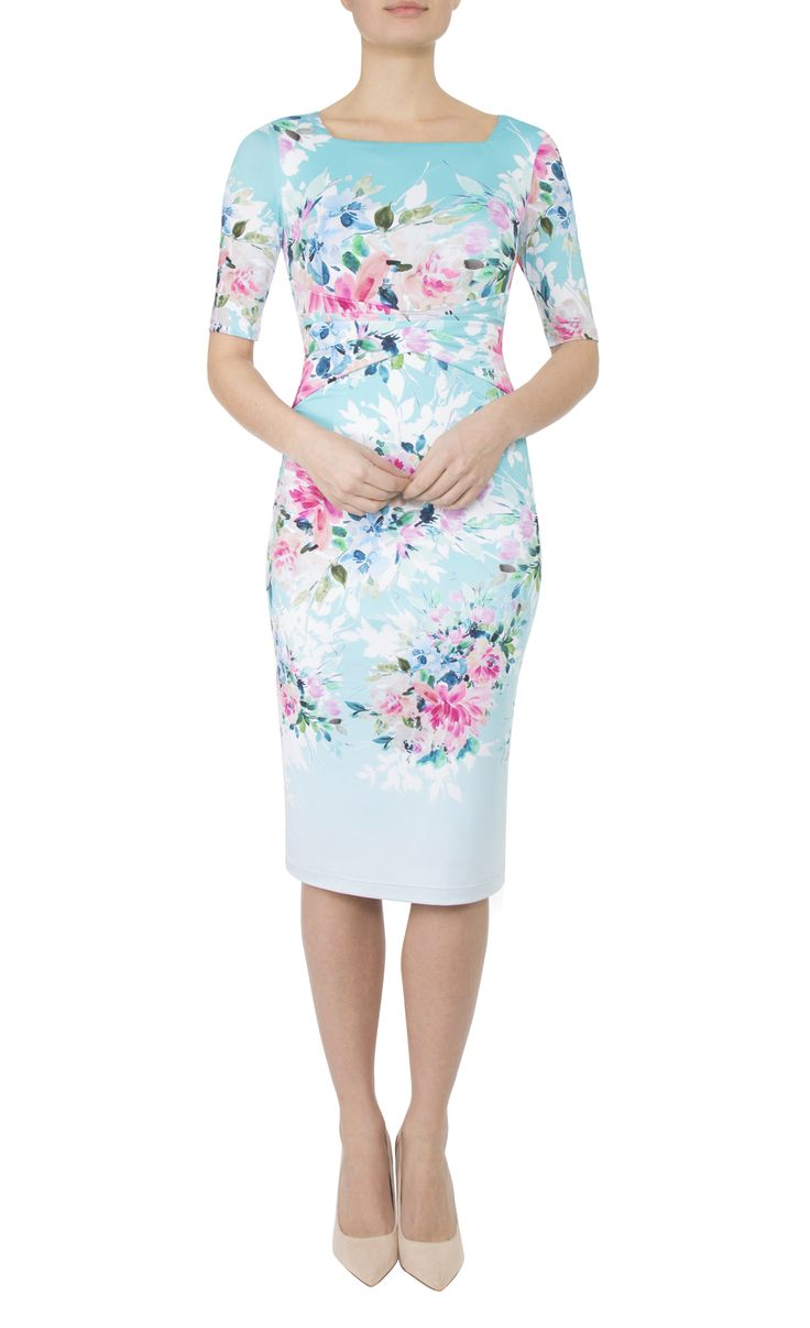 Occasion Wear   Water Floral Jersey Dress
