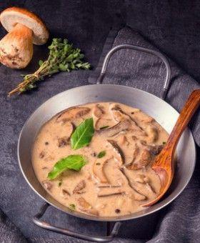 Hähnchen in herzhafter Senfrahmsauce mit Pilzen