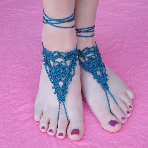 Crochet Barefoot Sandals Free Pattern