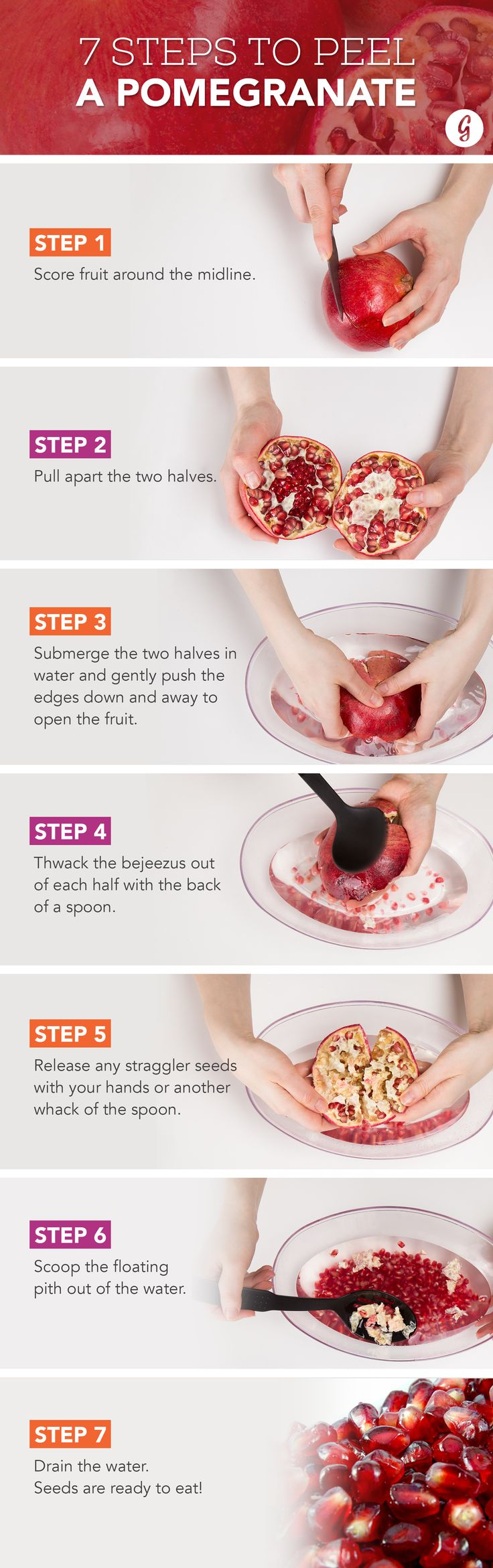 We Tried Every Possible Way to Deseed a Pomegranate. Here's the Best #cooking #tips