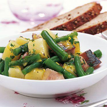 Kartoffel-Bohnen-Salat mit Matjes