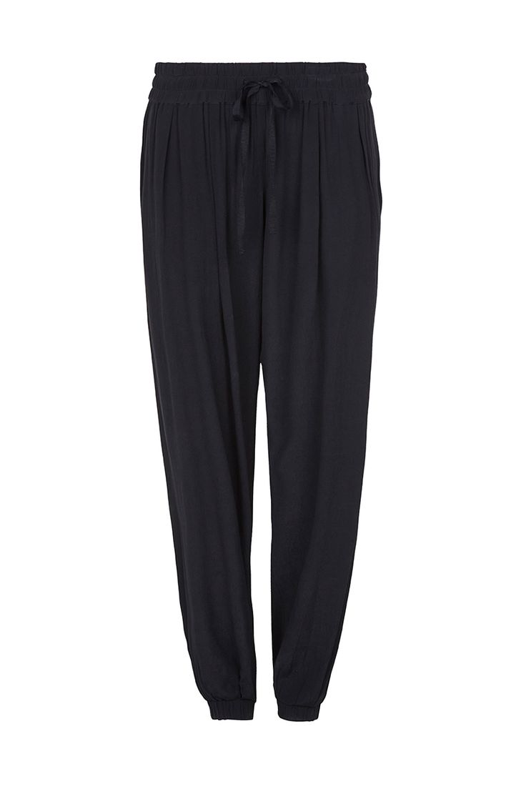 THE WAY OF THE WORLD - relaxed fit pants with encased elastic waistband & ankles $220