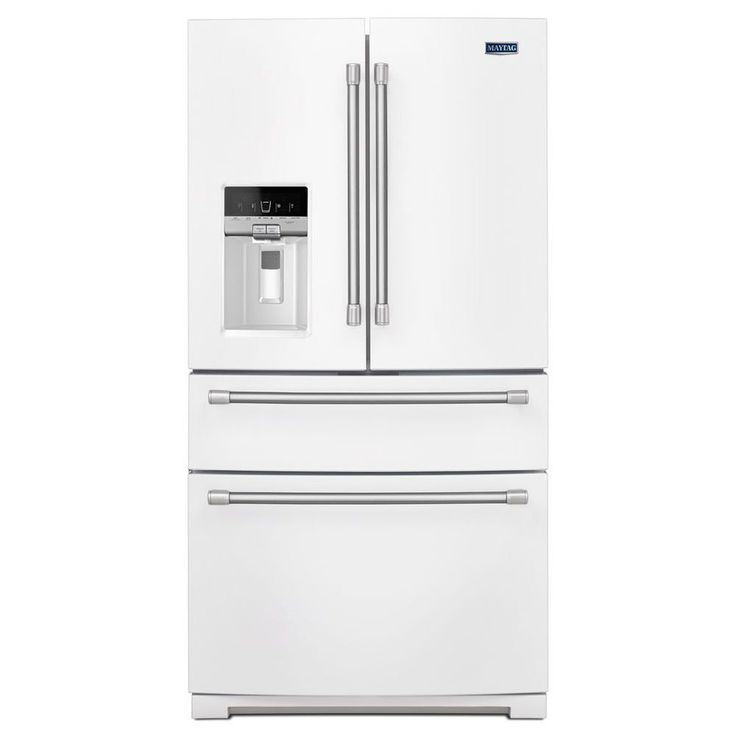 shop maytag 262cu ft french door with single ice maker white
