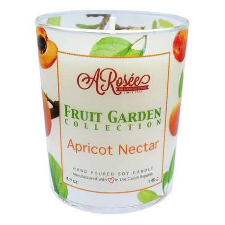 """Vonná sojová svíčka ARosée """"Apricot Nectar"""" s vůní meruňkového nektaru. Scented soy candle ARosée. Home decor. Domácí dekorace."""