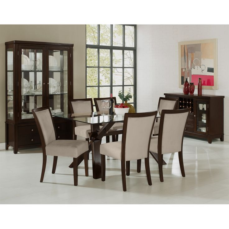 caravelle tango dining room collection value city furniture color matches the end tables merlot