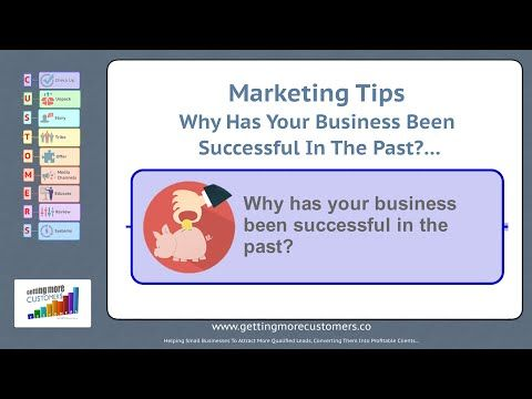 Business Marketing tips - Why has your business been successful in the p...