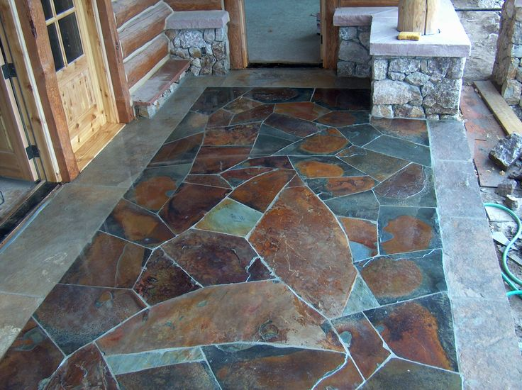 11 Best Images About Faux Flagstone On Pinterest Stains The Brick And Stamped Concrete