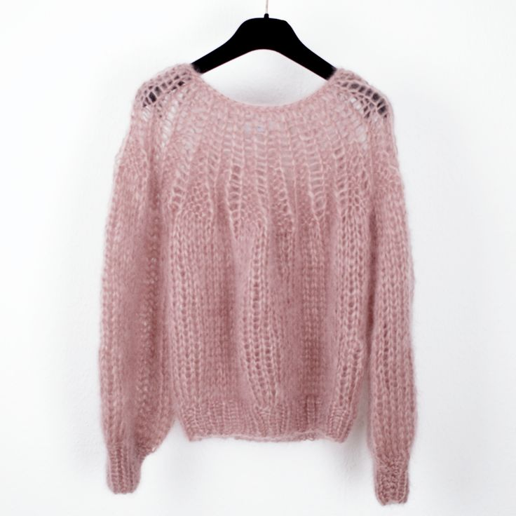 Mohair Pleated Sweater in Antique Pink by Maiami https://www.chicedition.com/maiami.html