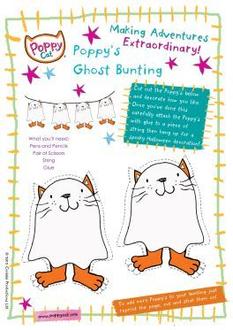 Poppy cat bunting poppy cat coloring pages for kids for Poppy cat coloring pages