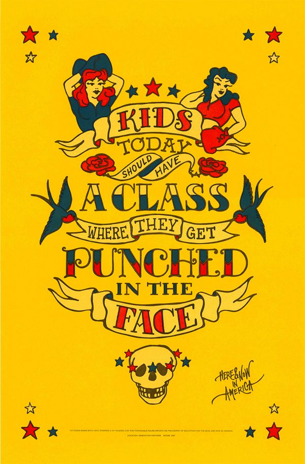 Punched in the FACE: The Face, Art, Funny, New York, Tattoo, Design, York Types, Kids Today