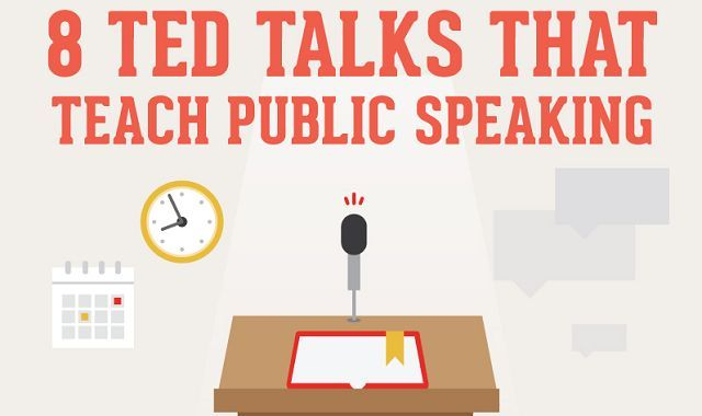 8 Ted Talks That Teach Public Speaking #infographic