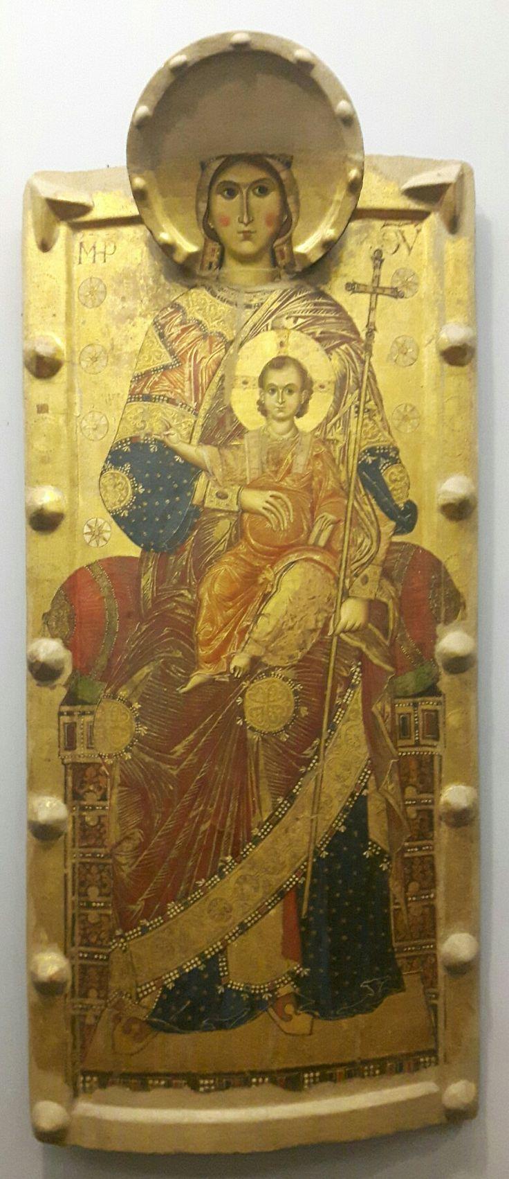 Madonna de Flumine. Fine Duecento. Produzione Amalfitana.  Capodimonte