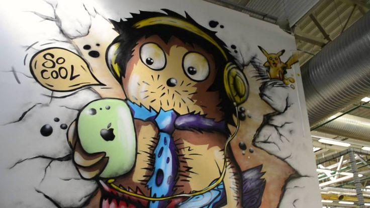 # Wallpaintings summer 2016 moments by Vahur Agar Vako & Helena Hanni # 2016 Suve hetked - seinamaalingud: Vahur Agar & Helena Hanni  Book your painting / Telli oma maaling:  1: https://www.facebook.com/VahurAgarOfficial/ 2: https://www.facebook.com/HelenaAndVahur  #wallpainting #seinamaaling #maal #kunst #supergraafika #graffiti #disain #interior #настенныерисунки #граффити #картина #искусство #интерьер #дизайн #intérieur #peinturemurale #peinture #绘画 #室内 #涂鸦 #艺术 #فن #دهان #فن #pintada