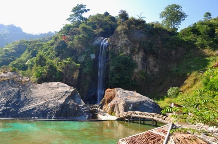 Bidadari Waterfall and It's Pools