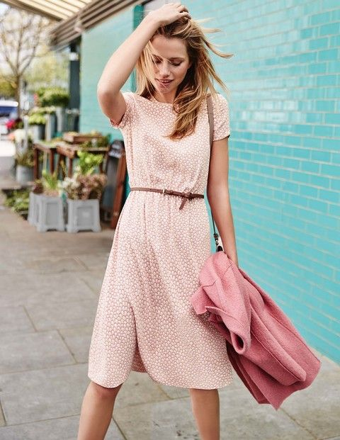 It may be a tea dress but this style will take you straight to cocktail hour. The lightweight viscose crepe skims your outline with gathers at the waist, while the shoulder zips and capped sleeves add a modern twist.
