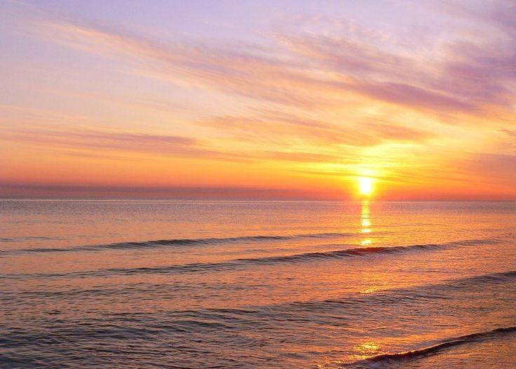 Картинка восход солнца на море, поздравление