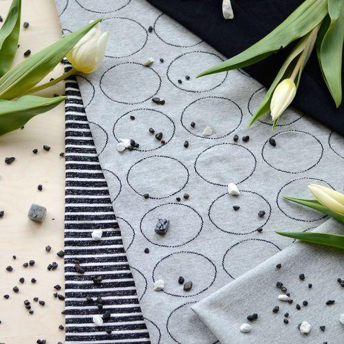 Loopback Sweatshirting, Black / Vanilla (WIDE) | NOSH Fabrics Spring & Summer 2016 Collection - Shop at en.nosh.fi | Kevään 2016 malliston kankaat saatavilla nyt nosh.fi