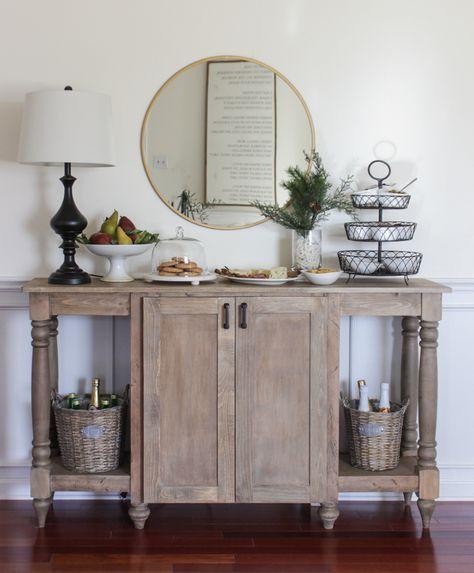Modern Farmhouse Buffet Free Plans