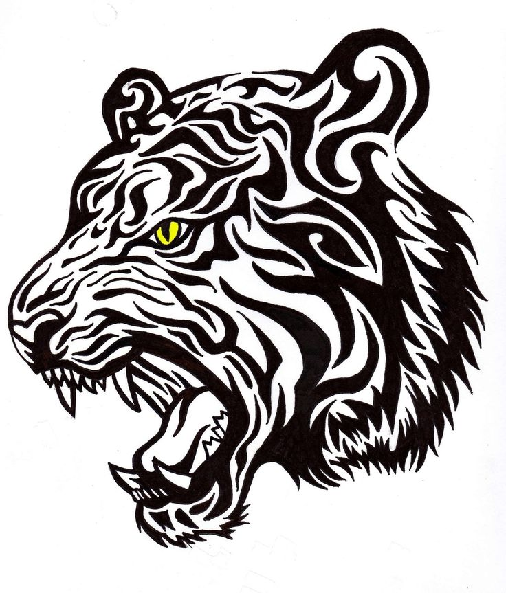 20 Tiger Tribal Band Tattoos Ideas And Designs