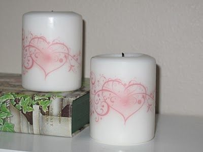 Transferring Ink to Candles- tutorial