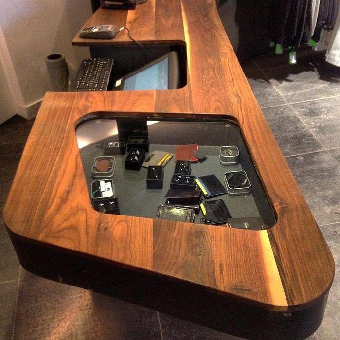 """Custom built point of sales desk for """"Burrows"""" in Oakville"""