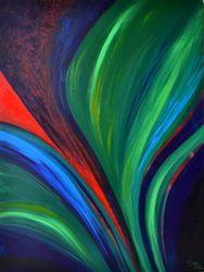 """""""Quetzal"""" by Stephanie Jack - 3ft x 4ft - acrylic - 2013 - $425"""