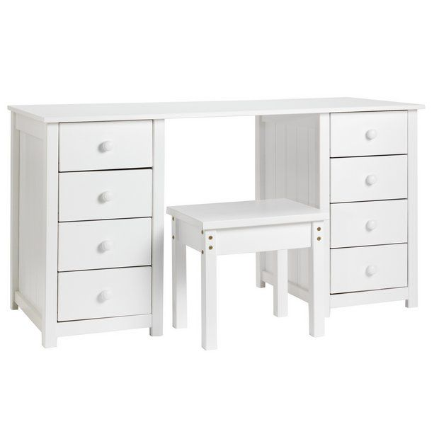 Argos Small White Table And Chairs: Home New Scandinavia Dressing Table - White