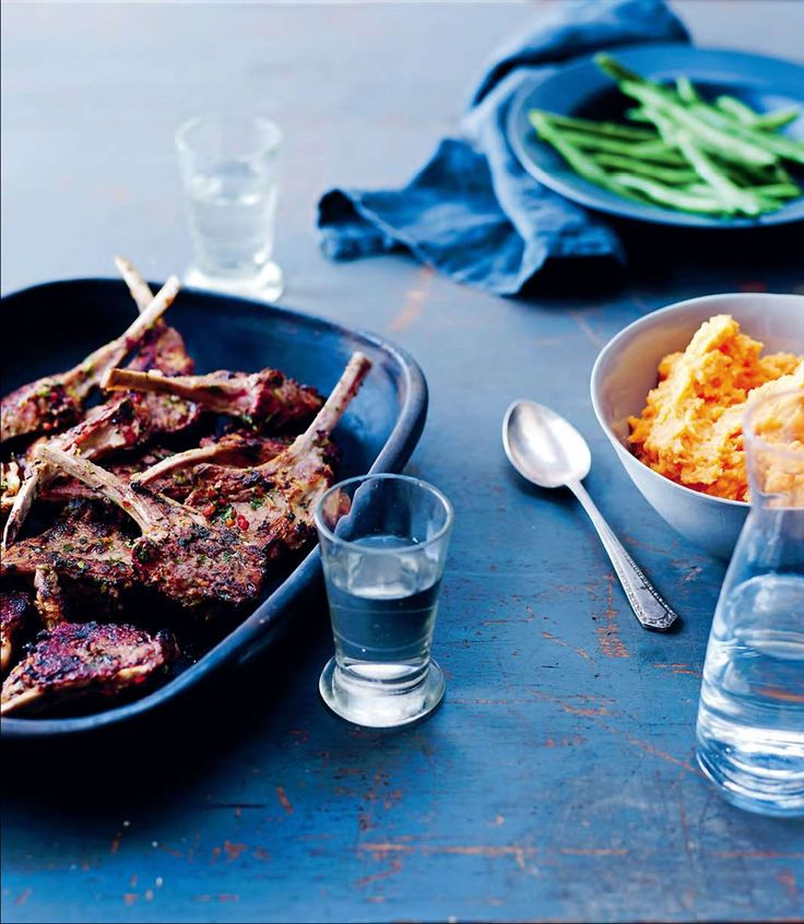 Coriander and chilli-crusted lamb cutlets with sweet potato mash by Rachael Lane from Great Pub Food | Cooked