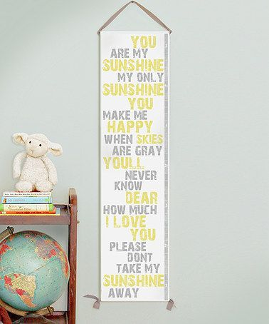 Take a look at this 'You Are My Sunshine' Canvas Growth Chart by Gus & Lula on #zulily today!