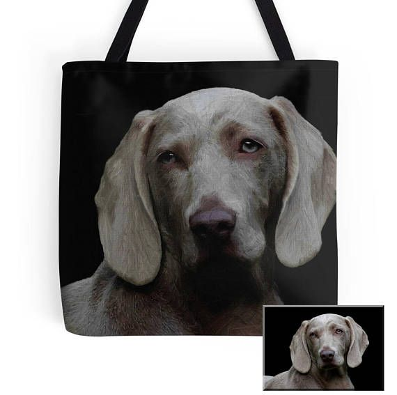 Personalized animal portrait Tote bag/ yoga bag beach