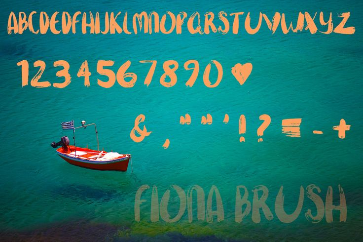 Fiona Brush, A Hand-Painted Font by Traci Draw on Creative Market