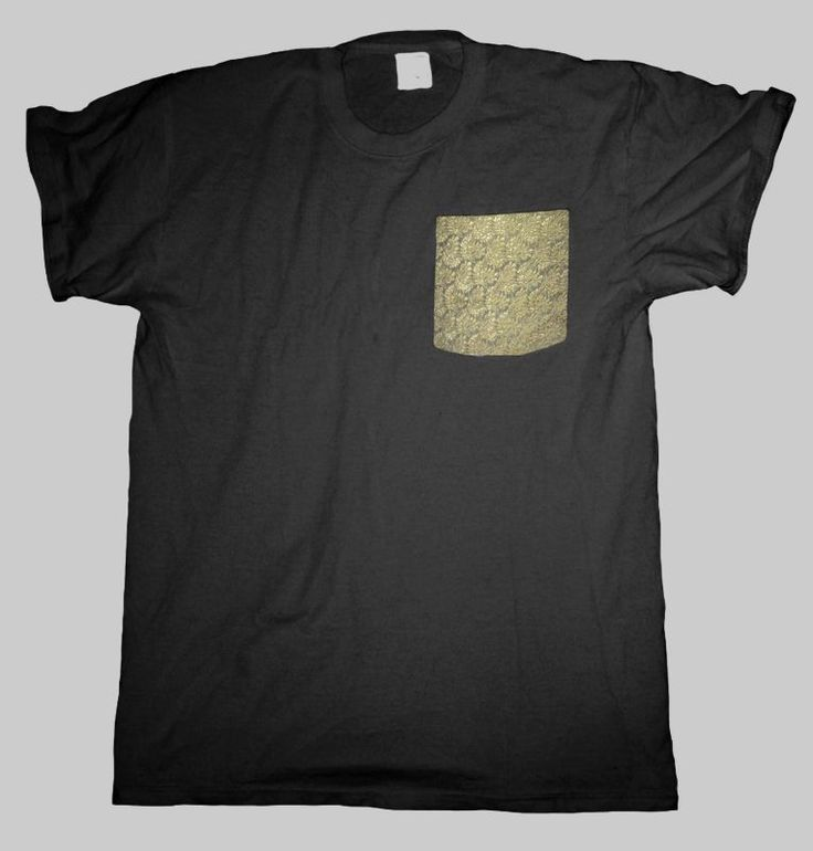 Gold Pocket T Shirt Black Men S - 2XL  #HailFridayCompagnie #PremiumTees