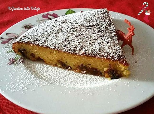 Torta+ricotta+di+pecora+uvetta+e+cioccolato