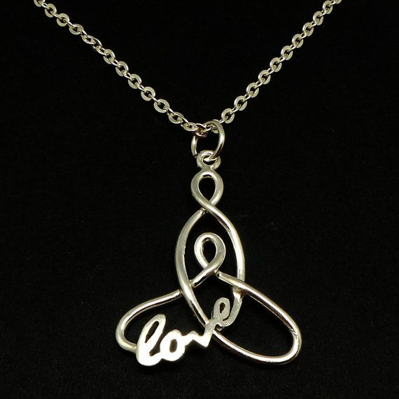 Silver Celtic Knot Mother and Child Necklace Pendant  by yhtanaff