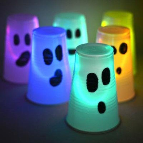 light up halloween crafts - Light Up Halloween Decorations