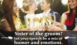 Sister of the groom wedding speech