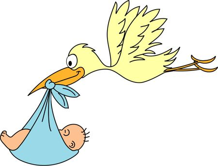 stork baby clipart free graphics of storks delivering babies rh pinterest com Stork with Baby Stork Carrying Baby