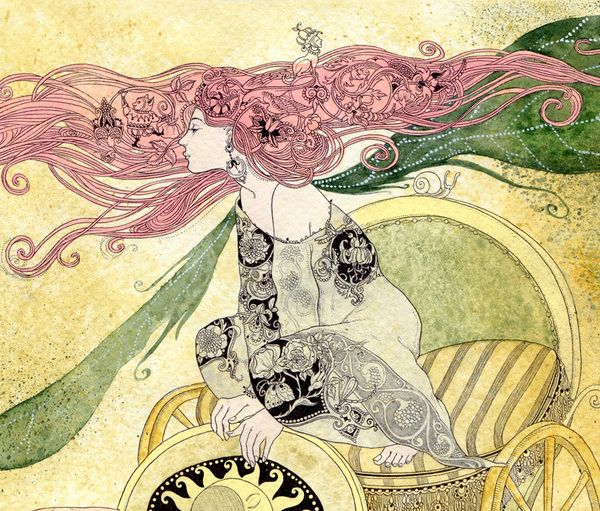 by Sveta DoroshevaArt Nouveau, Svetlana Dorosheva, Svetadorosheva, Artists Book, Sveta Dorosheva, Beautiful Art, Random Inspiration, Book Illustration, Art Illustration