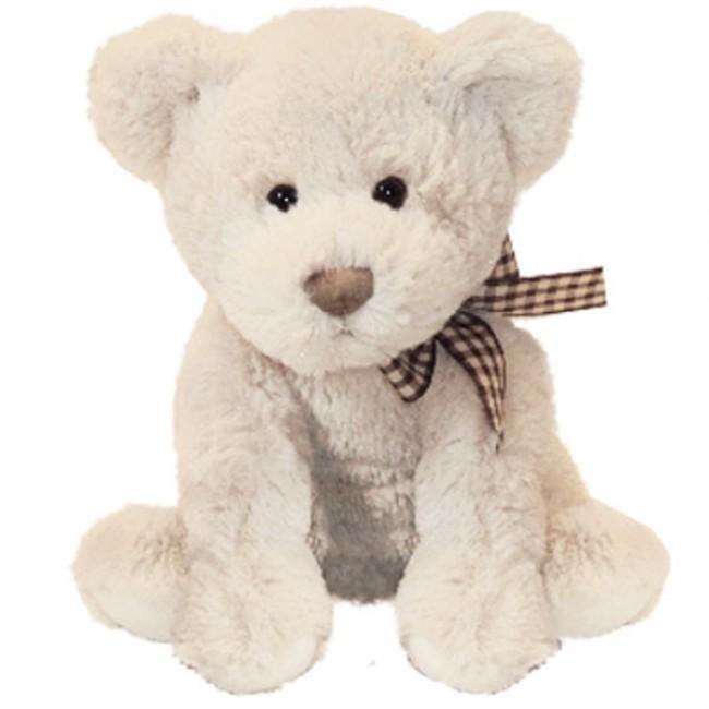 Zeer mooie kleine teddy beer met een geruite strik om zijn nek. Door zijn vacht voelt Natan de beer lekker zacht aan, een echte vriend om te knuffelen. Wie kan dit snoezige snuitje weerstaan?