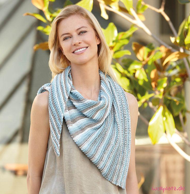 Mit dieser gratis Anleitung stricken Sie im Nu einen Schal für kalte Sommernächte.