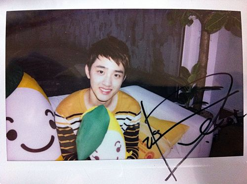 We are EXO-L, EXO-K for The Face Shop - D.O Signed Polaroid
