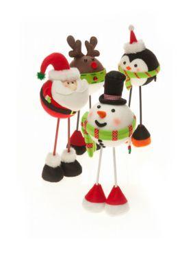 santa, snowman, penguin