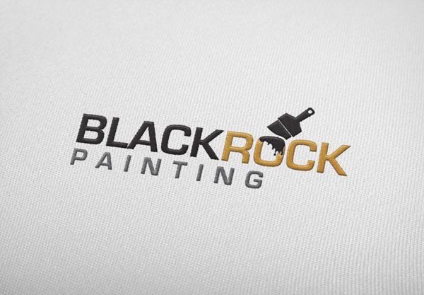 Black Rock painting and decorating logo. Designed by Brandabble.co.uk. Please contact me if you would like a logo designed.