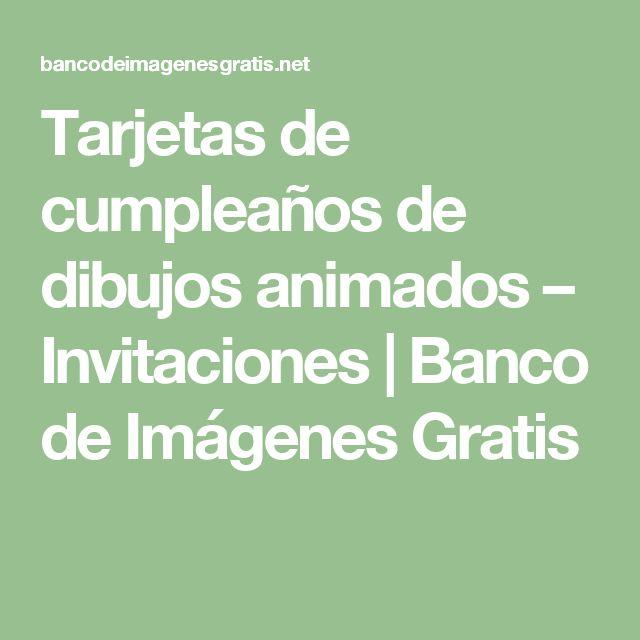 Tarjetas de cumpleaños de dibujos animados – Invitaciones   Banco de Imágenes Gratis