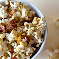 Maple-Bacon Kettle Popcorn | Brown Eyed Baker