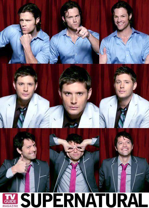 Jared Padalecki, Jensen Ackles, Misha Collins. #Supernatural>> actual model Jensen