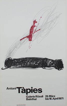 Antoni Tapies alerie Roessli Poster Kunstdruck Plakat Farblithographie 90x56cm   eBay