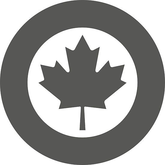 Low Visibility Roundel of the Royal Canadian Air Force