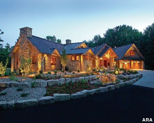 so gorgeousDreams Home, Home Exterior, Logs Cabin Home, Dreams House, Dreams Logs, Logs Home Interiors, Luxury Logs, Logs House, Beautiful Home Logcabin