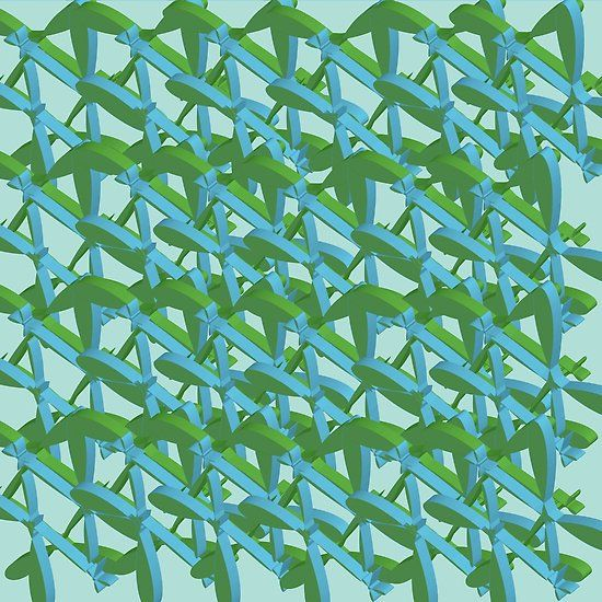 Geometric Series #colorful#blue#green#3d#shapes#pattern